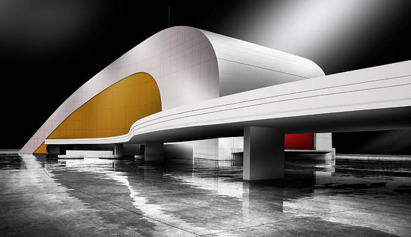 Modern Architecture Photograph - Niemeyer Center (avila?s, Spain) by Artistname