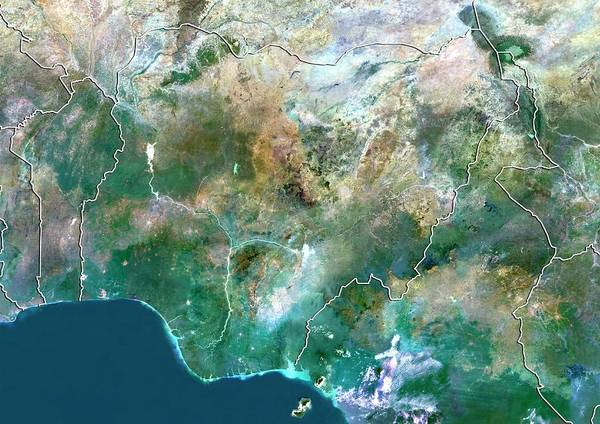 Nigeria Wall Art - Photograph - Nigeria by Planetobserver/science Photo Library