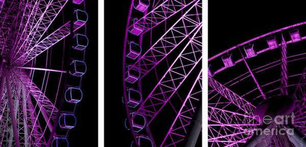 Nightime Photograph - Night Ferris Wheel by Jorgo Photography - Wall Art Gallery