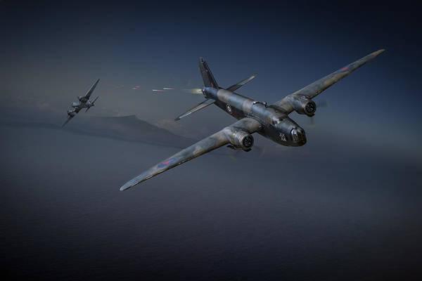 Junkers Digital Art - Night Fight by Gary Eason