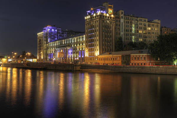 Wall Art - Photograph - Night In Moscow by Magomed Magomedagaev