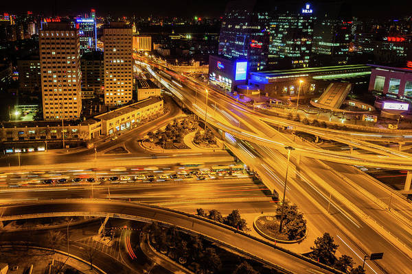 Wall Art - Photograph - Night Overpass by Gregchen