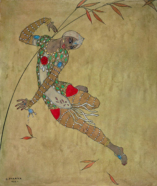 Fire Dance Wall Art - Painting - Nijinsky In Le Festin L'oiseau D'or by Georges Barbier