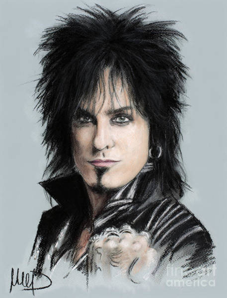 Bassist Wall Art - Drawing - Nikki Sixx by Melanie D