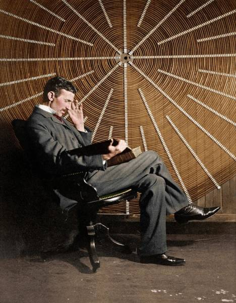 Photograph - Nikola Tesla by Nikola Tesla Museum/science Photo Library