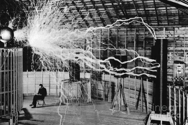 Wall Art - Photograph - Nikola Tesla Serbian-american Inventor by Science Source