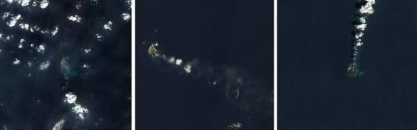 Fire Ring Photograph - Nishinoshima Volcanic Eruption by Nasa Earth Observatory/science Photo Library