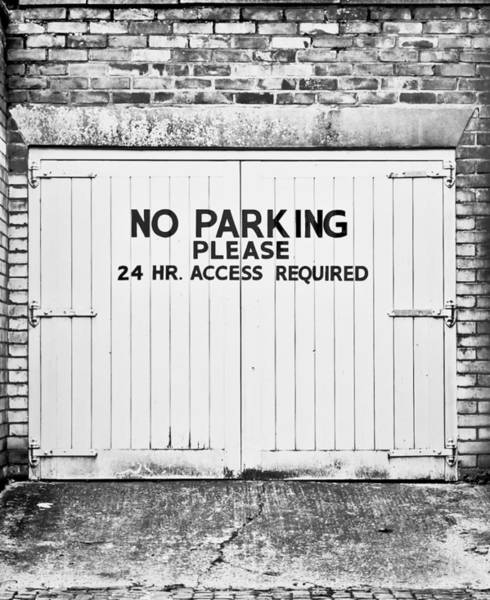 Restriction Photograph - No Parking by Tom Gowanlock