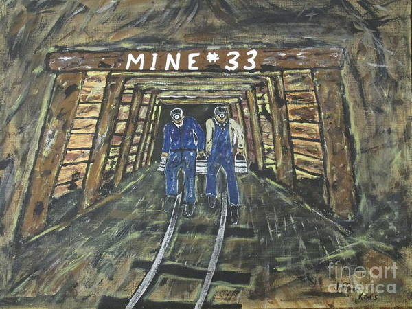 Wall Art - Painting - No Windows Down There In The Coal Mine .  by Jeffrey Koss
