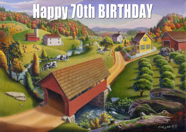Alabama Painting - no1 Happy 70th Birthday by Walt Curlee