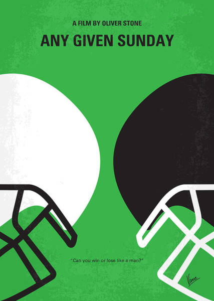 Football Players Wall Art - Digital Art - No420 My Any Given Sunday Minimal Movie Poster by Chungkong Art