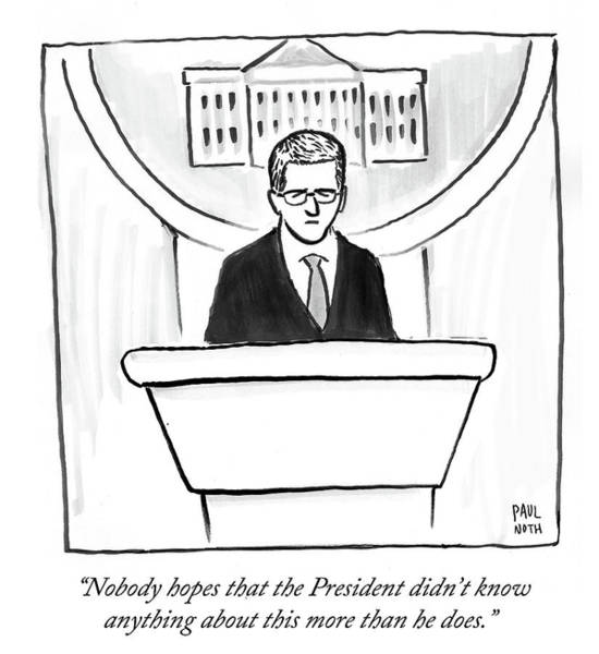 Washington Dc Drawing - Nobody Hopes That The President Didn't Know by Paul Noth