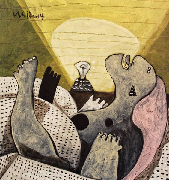 Excitement Painting - Noctis No. 4  by Mark M  Mellon