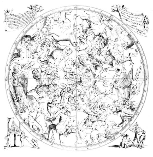 Zodiac Wall Art - Photograph - Northern Constellations by Royal Astronomical Society/science Photo Library