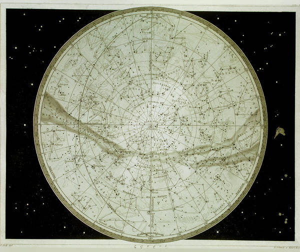 Hemisphere Wall Art - Photograph - Northern Hemisphere Star Map by Sheila Terry/science Photo Library