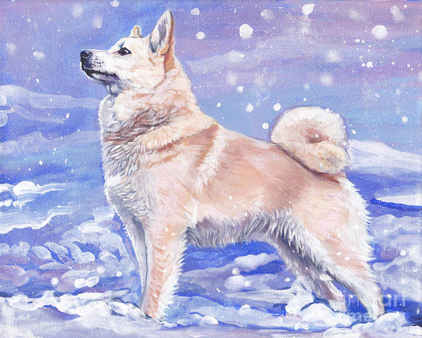 Norwegian Painting - Norwegian Buhund by Lee Ann Shepard