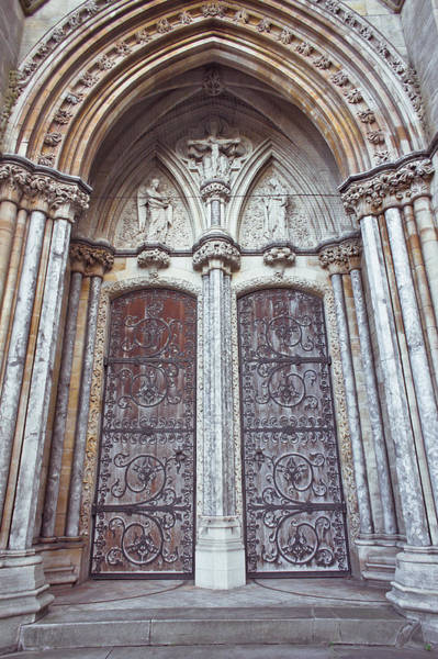 Archway Photograph - Norwich Cathedral by Tom Gowanlock