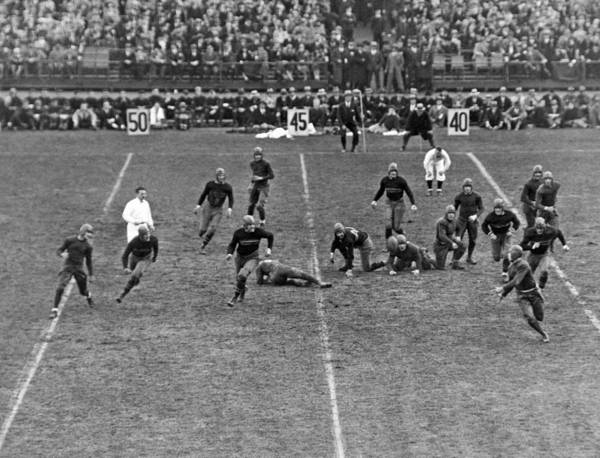 Playing Field Photograph - Notre Dame-army Football Game by Underwood Archives