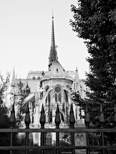 Photograph - Notre Dame Cathedral From Behind - Paris by Barry O Carroll