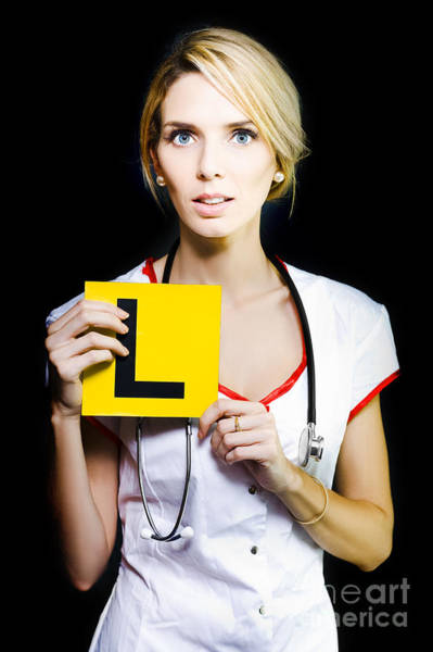 Watch Out Wall Art - Photograph - Novice Nurse Or Medical Student by Jorgo Photography - Wall Art Gallery