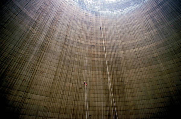 Cooling Tower Photograph - Nuclear Industry by Patrick Landmann/science Photo Library