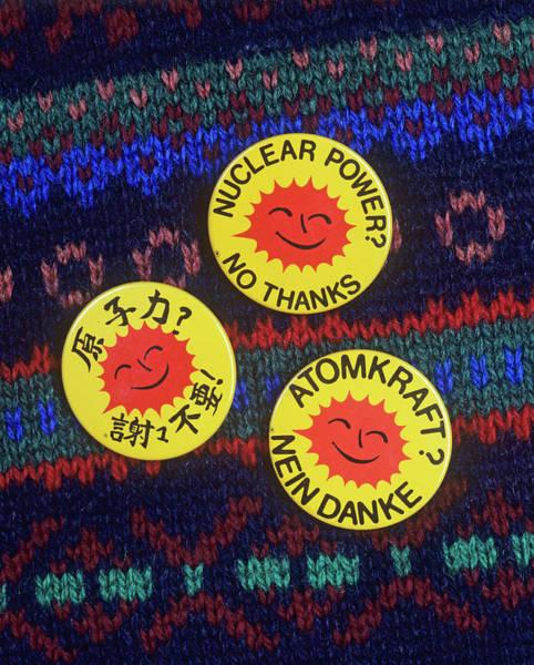 \nuclear Power? No Thanks\ Badges Art Print