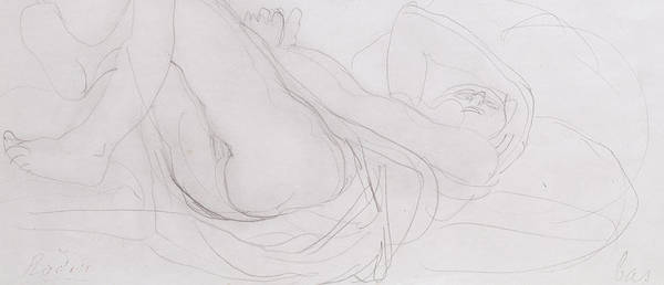 Sensual Drawing - Nude by Auguste Rodin