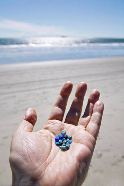 Wall Art - Photograph - Nurdles On A Beach by Education Images/citizens Of The Planet/uig/science Photo Library