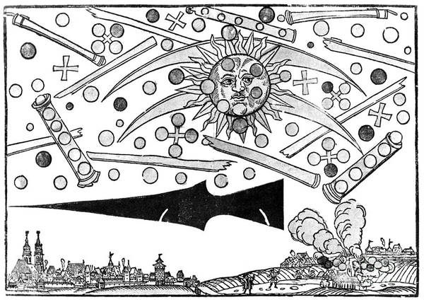 Ufology Photograph - Nuremberg Ufo, 1561 by Science Source