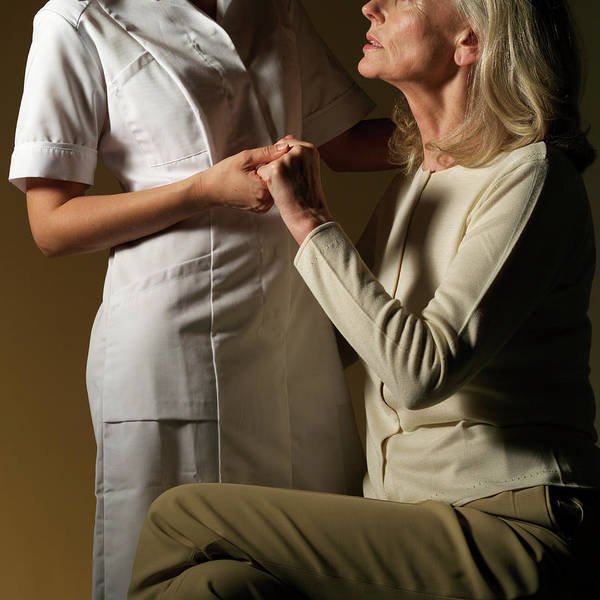 Patient Photograph - Nurse And Patient by Coneyl Jay/science Photo Library