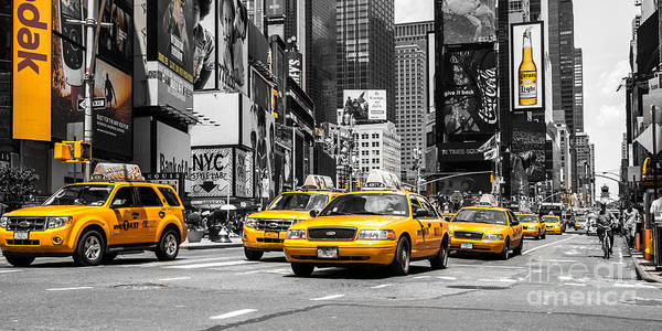 Photograph - Nyc Yellow Cabs - Ck by Hannes Cmarits
