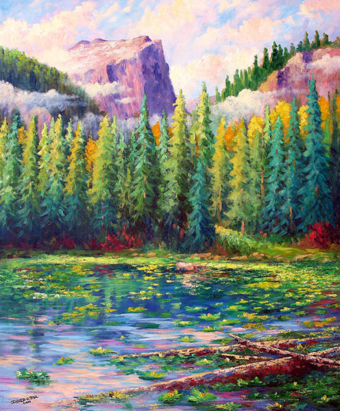 Wall Art - Painting - Nymph Lake by David G Paul