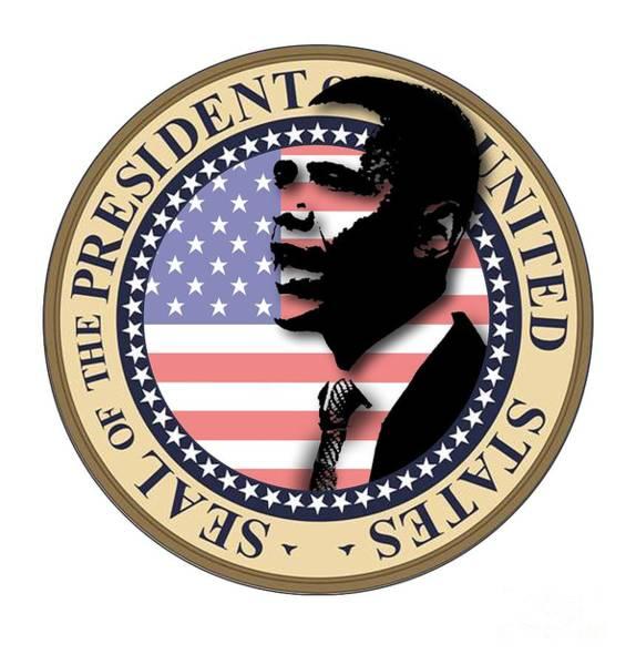 Presidency Digital Art - Obama-1 by Chris Van Es