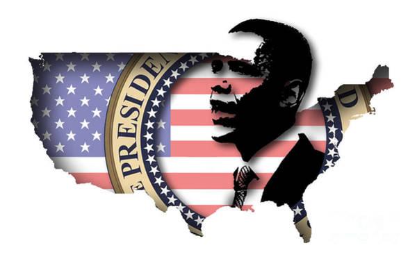 Presidency Digital Art - Obama-2 by Chris Van Es