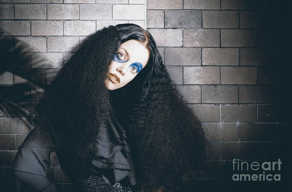 Photograph - Occult Medieval Performer On Castle Brick Wall by Jorgo Photography - Wall Art Gallery