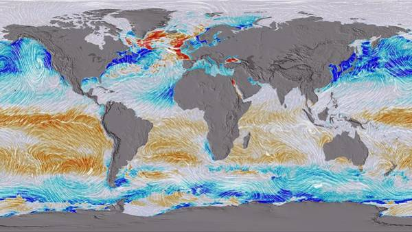Winds Of Change Wall Art - Photograph - Ocean Surface Co2 And Winds by Nasa's Scientific Visualization Studio