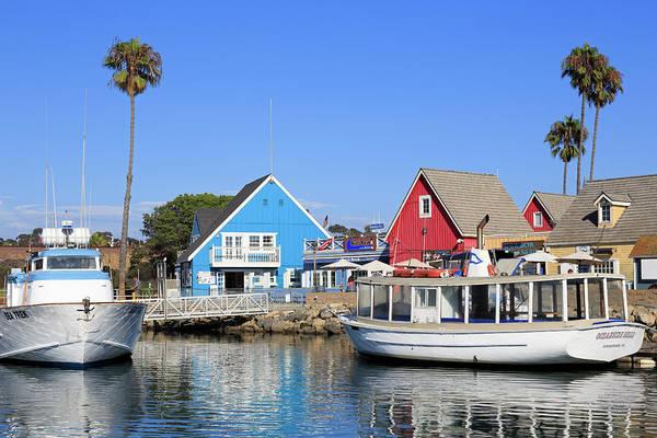 Motorboat Photograph - Oceanside Harbor Village by Richard Cummins