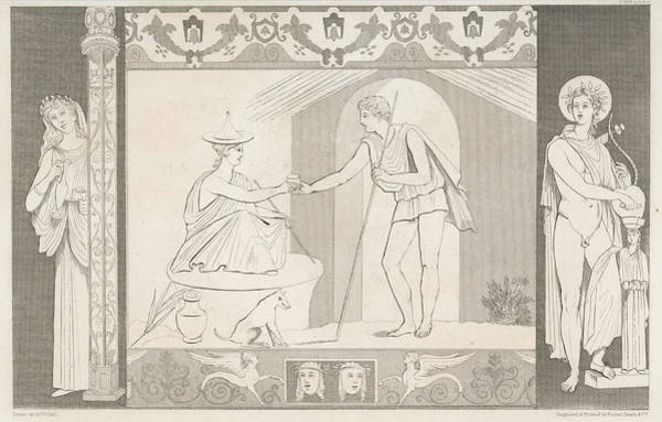 Wall Art - Drawing - Odysseus Returns To His Wife, Penelope by Mary Evans Picture Library