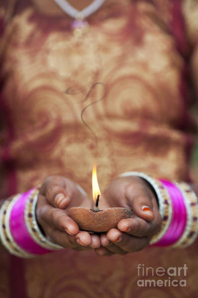 India Photograph - Offering The Light by Tim Gainey