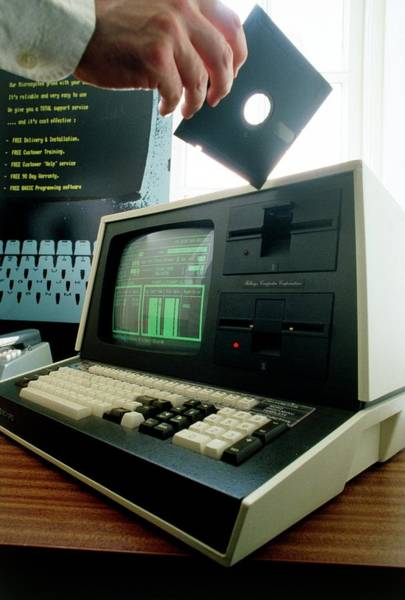 Floppy Disk Photograph - Office Computing by Jerry Mason/science Photo Library