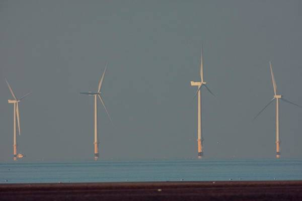 Wind Farm Photograph - Offshore Wind Farm by David Woodfall Images/science Photo Library