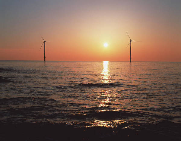 Offshore Wall Art - Photograph - Offshore Wind Farm by Martin Bond/science Photo Library