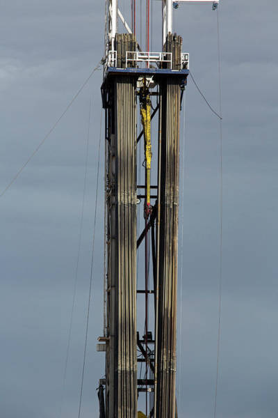Drill Photograph - Oil Drilling Rig by Jim West