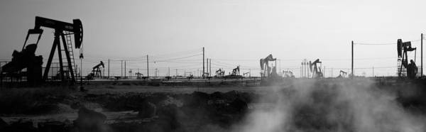 Maricopa Photograph - Oil Drills In A Field, Maricopa, Kern by Panoramic Images