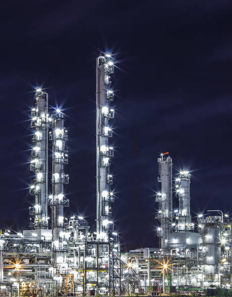 Petroleum Wall Art - Photograph - Oil Refinery Industry by Anek Suwannaphoom