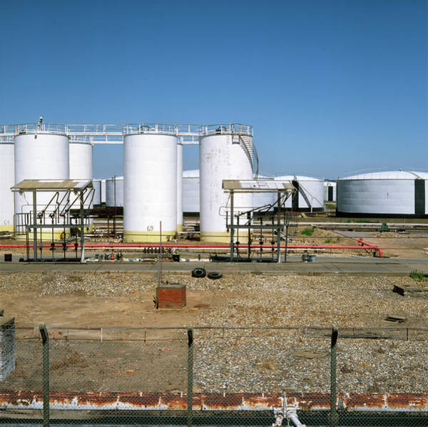 Depot Photograph - Oil Storage Depot by Robert Brook/science Photo Library
