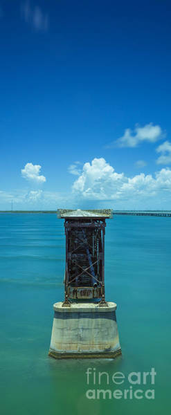 Photograph - Old Bahia Honda Bridge Florida Keys by Hans- Juergen Leschmann
