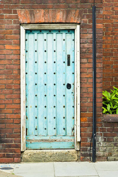 Door Photograph - Old Blue Door by Tom Gowanlock