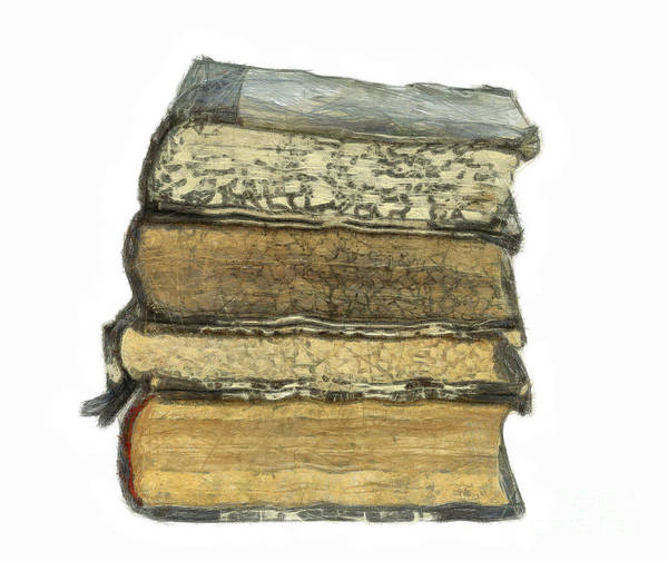 Old Wall Art - Digital Art - Old Books by Michal Boubin