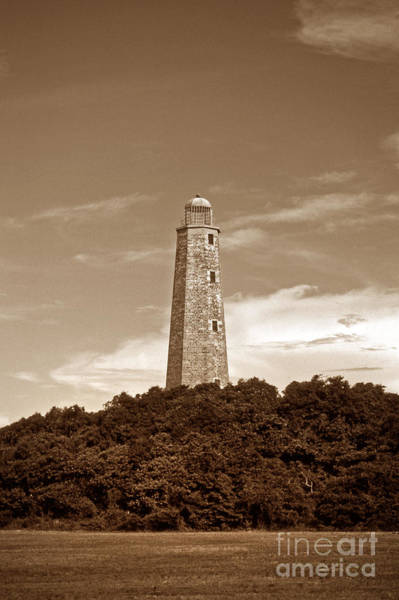 Virginia Lighthouse Photograph - Old Cape Henry Light by Skip Willits